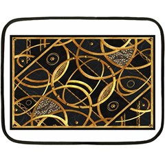Futuristic Ornament Decorative Print Mini Fleece Blanket (two Sided)