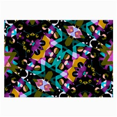 Digital Futuristic Geometric Pattern Glasses Cloth (large) by dflcprints