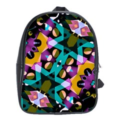 Digital Futuristic Geometric Pattern School Bag (xl) by dflcprints