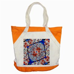 Floral Pattern Digital Collage Accent Tote Bag by dflcprints