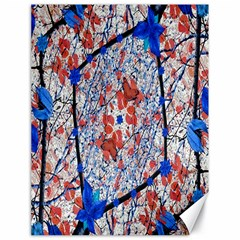 Floral Pattern Digital Collage Canvas 18  X 24  (unframed) by dflcprints
