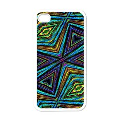 Tribal Style Colorful Geometric Pattern Apple Iphone 4 Case (white)