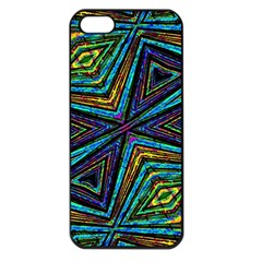 Tribal Style Colorful Geometric Pattern Apple Iphone 5 Seamless Case (black) by dflcprints