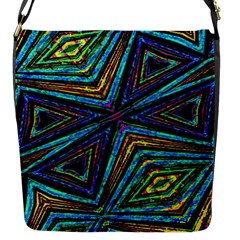 Tribal Style Colorful Geometric Pattern Flap Closure Messenger Bag (small) by dflcprints