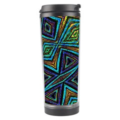 Tribal Style Colorful Geometric Pattern Travel Tumbler by dflcprints