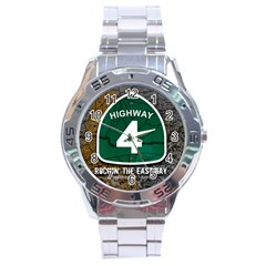 Hwy 4 Website Pic Cut 2 Page4 Stainless Steel Watch by tammystotesandtreasures