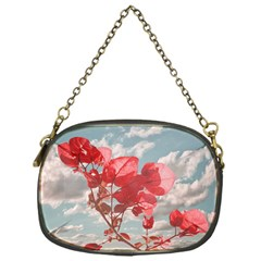 Flowers In The Sky Chain Purse (one Side)