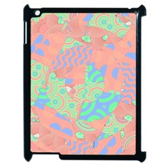 Tropical Summer Fruit Salad Apple Ipad 2 Case (black) by CrypticFragmentsColors