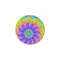 Neon Flower Purple Hot Pink Orange Golf Ball Marker 4 Pack by CrypticFragmentsColors
