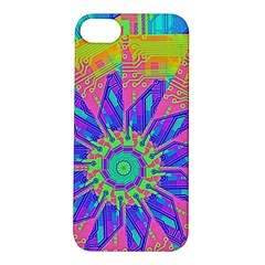 Neon Flower Purple Hot Pink Orange Apple Iphone 5s Hardshell Case