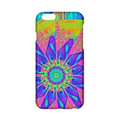 Neon Flower Purple Hot Pink Orange Apple Iphone 6 Hardshell Case by CrypticFragmentsColors