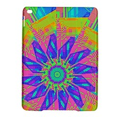 Neon Flower Purple Hot Pink Orange Apple Ipad Air 2 Hardshell Case by CrypticFragmentsColors