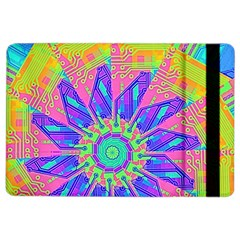 Neon Flower Purple Hot Pink Orange Apple Ipad Air 2 Flip Case by CrypticFragmentsColors