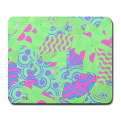 Tropical Neon Green Purple Blue Large Mousepad by CrypticFragmentsColors