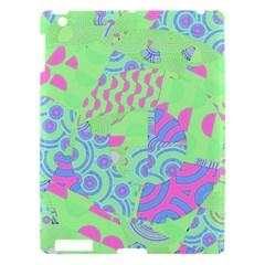 Tropical Neon Green Purple Blue Apple Ipad 3/4 Hardshell Case by CrypticFragmentsColors