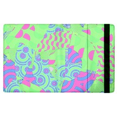 Tropical Neon Green Purple Blue Apple Ipad 3/4 Flip Case by CrypticFragmentsColors