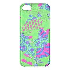 Tropical Neon Green Purple Blue Apple Iphone 5c Hardshell Case by CrypticFragmentsColors