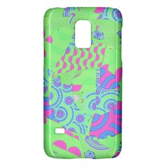Tropical Neon Green Purple Blue Samsung Galaxy S5 Mini Hardshell Case  by CrypticFragmentsColors