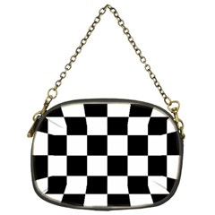 Checkered Flag Race Winner Mosaic Tile Pattern Chain Purse (one Side) by CrypticFragmentsColors