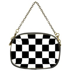 Checkered Flag Race Winner Mosaic Tile Pattern Chain Purse (two Sided)  by CrypticFragmentsColors