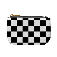 Checkered Flag Race Winner Mosaic Tile Pattern Coin Change Purse by CrypticFragmentsColors
