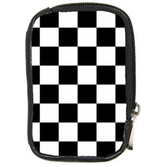 Checkered Flag Race Winner Mosaic Tile Pattern Compact Camera Leather Case by CrypticFragmentsColors