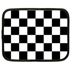 Checkered Flag Race Winner Mosaic Tile Pattern Netbook Sleeve (xl) by CrypticFragmentsColors
