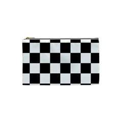 Checkered Flag Race Winner Mosaic Tile Pattern Cosmetic Bag (small) by CrypticFragmentsColors