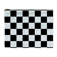 Checkered Flag Race Winner Mosaic Tile Pattern Cosmetic Bag (xl) by CrypticFragmentsColors