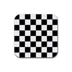 Checkered Flag Race Winner Mosaic Tile Pattern Drink Coaster (square) by CrypticFragmentsColors