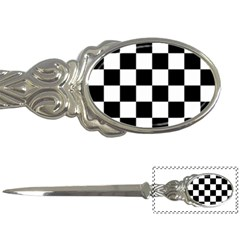 Checkered Flag Race Winner Mosaic Tile Pattern Letter Opener by CrypticFragmentsColors