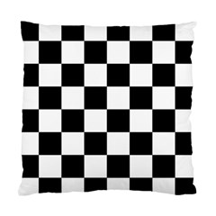 Checkered Flag Race Winner Mosaic Tile Pattern Cushion Case (single Sided)  by CrypticFragmentsColors