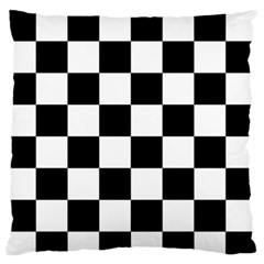 Checkered Flag Race Winner Mosaic Tile Pattern Large Flano Cushion Case (one Side) by CrypticFragmentsColors