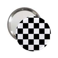 Checkered Flag Race Winner Mosaic Tile Pattern Handbag Mirror (2 25 ) by CrypticFragmentsColors