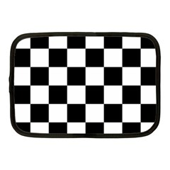 Checkered Flag Race Winner Mosaic Tile Pattern Netbook Sleeve (medium) by CrypticFragmentsColors