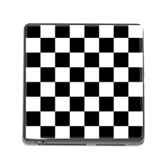 Checkered Flag Race Winner Mosaic Tile Pattern Memory Card Reader With Storage (square) by CrypticFragmentsColors