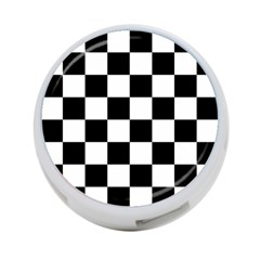 Checkered Flag Race Winner Mosaic Tile Pattern 4 Port Usb Hub (two Sides) by CrypticFragmentsColors