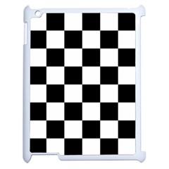 Checkered Flag Race Winner Mosaic Tile Pattern Apple Ipad 2 Case (white) by CrypticFragmentsColors