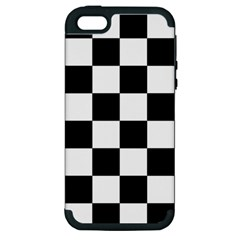 Checkered Flag Race Winner Mosaic Tile Pattern Apple Iphone 5 Hardshell Case (pc+silicone) by CrypticFragmentsColors