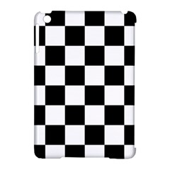 Checkered Flag Race Winner Mosaic Tile Pattern Apple Ipad Mini Hardshell Case (compatible With Smart Cover) by CrypticFragmentsColors