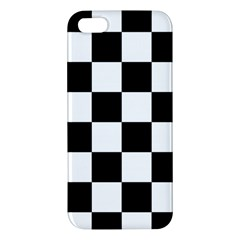 Checkered Flag Race Winner Mosaic Tile Pattern Apple Iphone 5 Premium Hardshell Case by CrypticFragmentsColors