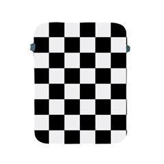 Checkered Flag Race Winner Mosaic Tile Pattern Apple Ipad Protective Sleeve by CrypticFragmentsColors