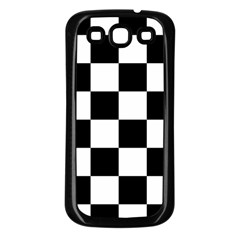 Checkered Flag Race Winner Mosaic Tile Pattern Samsung Galaxy S3 Back Case (black) by CrypticFragmentsColors