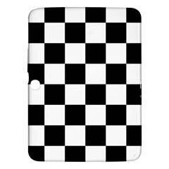 Checkered Flag Race Winner Mosaic Tile Pattern Samsung Galaxy Tab 3 (10 1 ) P5200 Hardshell Case  by CrypticFragmentsColors