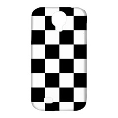 Checkered Flag Race Winner Mosaic Tile Pattern Samsung Galaxy S4 Classic Hardshell Case (pc+silicone) by CrypticFragmentsColors