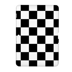 Checkered Flag Race Winner Mosaic Tile Pattern Samsung Galaxy Tab 2 (10 1 ) P5100 Hardshell Case  by CrypticFragmentsColors