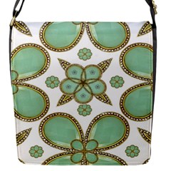 Luxury Decorative Pattern Collage Flap Closure Messenger Bag (small) by dflcprints