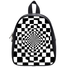 Checkered Flag Race Winner Mosaic Tile Pattern Repeat School Bag (small) by CrypticFragmentsColors