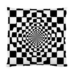 Checkered Flag Race Winner Mosaic Tile Pattern Repeat Cushion Case (single Sided)  by CrypticFragmentsColors