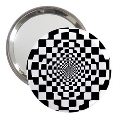 Checkered Flag Race Winner Mosaic Tile Pattern Repeat 3  Handbag Mirror by CrypticFragmentsColors